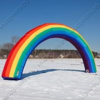 надувная арка радуга для оформления