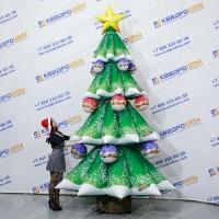 Надувные новогодние елки