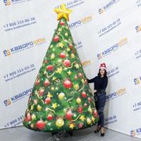 Надувная новогодняя декорация елка