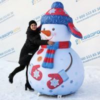 Снеговик световая фигура для уличного оформления