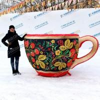 Фигура надувная чашка в русском народном стиле