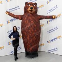 Рекламная фигура с машущей рукой Медведь