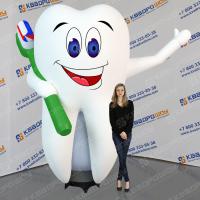 Надувная фигура Зуб машет рукой