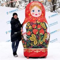 Надувная кукла масленичная матрешка в русском стиле