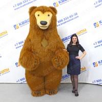 Надувная фигура коричневый медведь