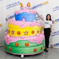 гигантский надувной торт бутафория