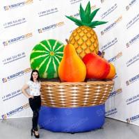 Надувные фрукты и овощи