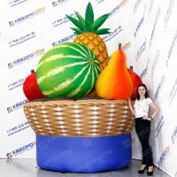 Рекламные джумби надувные фрукты овощи в корзине