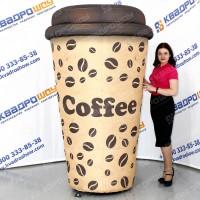 Огромный рекламный стаканчик кофе вывеска