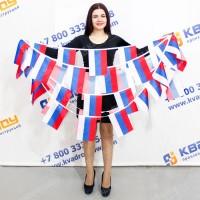 флажки в виде флага России на ленте