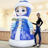 Новогодний надувной костюм Снегурочка
