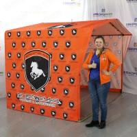 Фирменная выставочная палатка каркасная