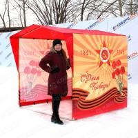 Каркасная палатка для торговли на 9 мая
